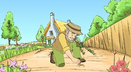A Farmer Plants A Seed